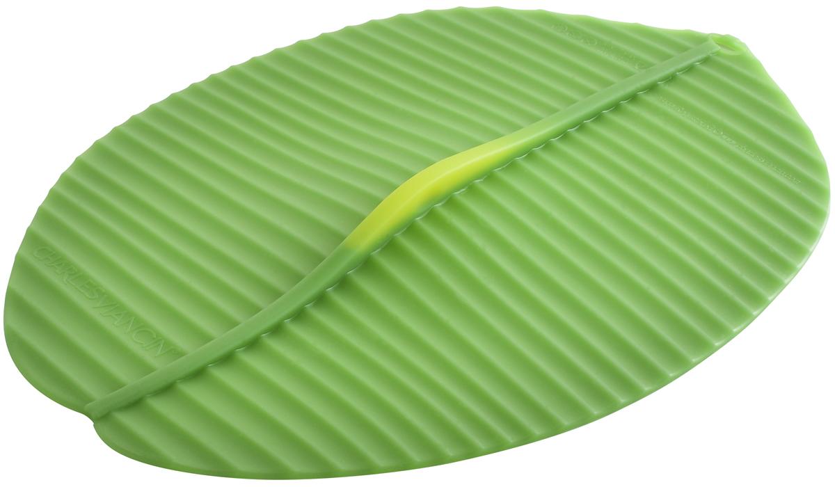 Крышка овальная Charles Viancin Banana Leaf, цвет: зеленый, 33 х 23 см banana republic ba067ewrbh38 banana republic