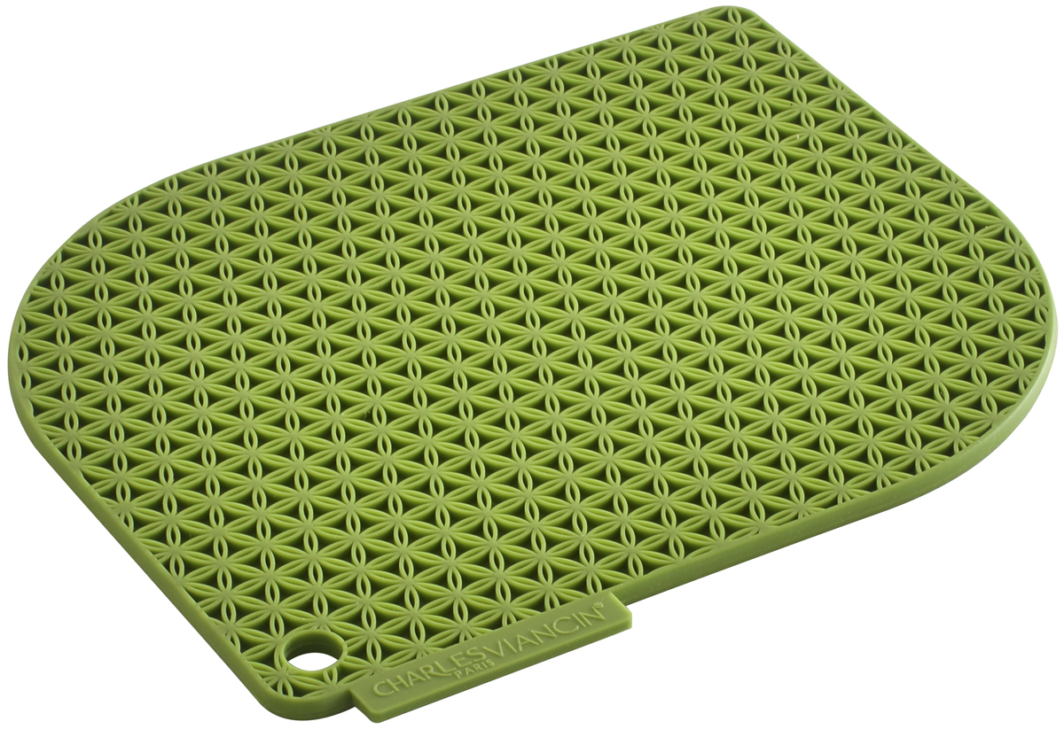 Прихватка Charles Viancin Honeycomb, цвет: зеленый бамбук1702Прихватка и подставка одновременно! Надежная защита от горячей посуды, выдерживает температуру до 220° С. Обладает высокой теплозащитой. Не впитывает жир и неприятные запахи.