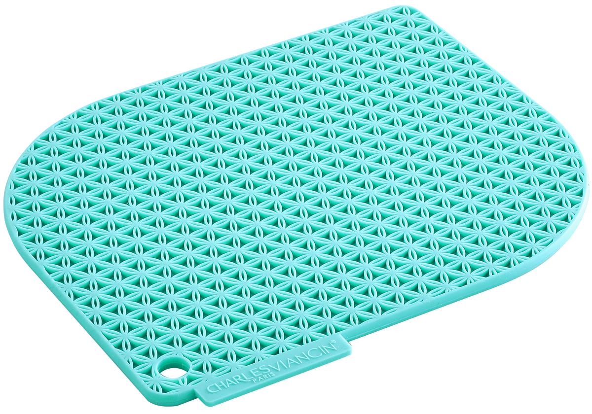 Прихватка Charles Viancin Honeycomb, цвет: бирюзовый1703Прихватка и подставка одновременно! Надежная защита от горячей посуды, выдерживает температуру до 220° С. Обладает высокой теплозащитой. Не впитывает жир и неприятные запахи.