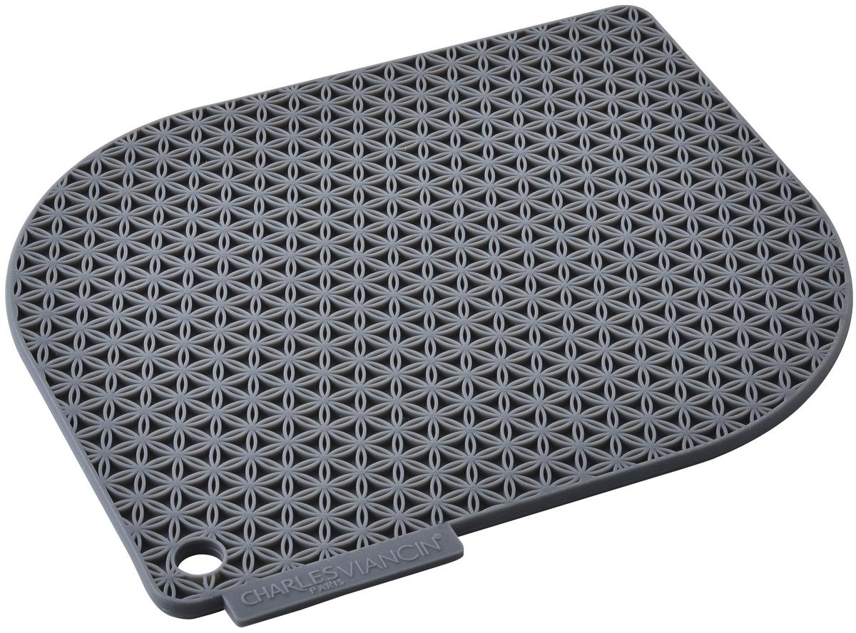 Прихватка Charles Viancin Honeycomb, цвет: серый1712Прихватка и подставка одновременно! Надежная защита от горячей посуды, выдерживает температуру до 220° С. Обладает высокой теплозащитой. Не впитывает жир и неприятные запахи.