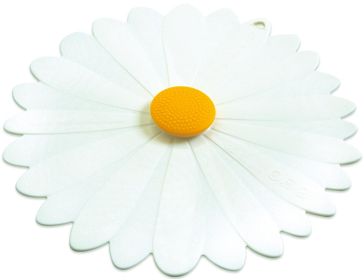 Крышка Charles Viancin Daisy, цвет: белый. Диаметр 28 см2503Крышка герметична, привлекательна по дизайну и функциональна. Ее можно использовать в процессе приготовления пищи на плите, в микроволновой печи и в духовом шкафу. Подходит для посудомоечной машины. Можно использовать в холодильнике. Закроет любую емкость с гладким ободом.