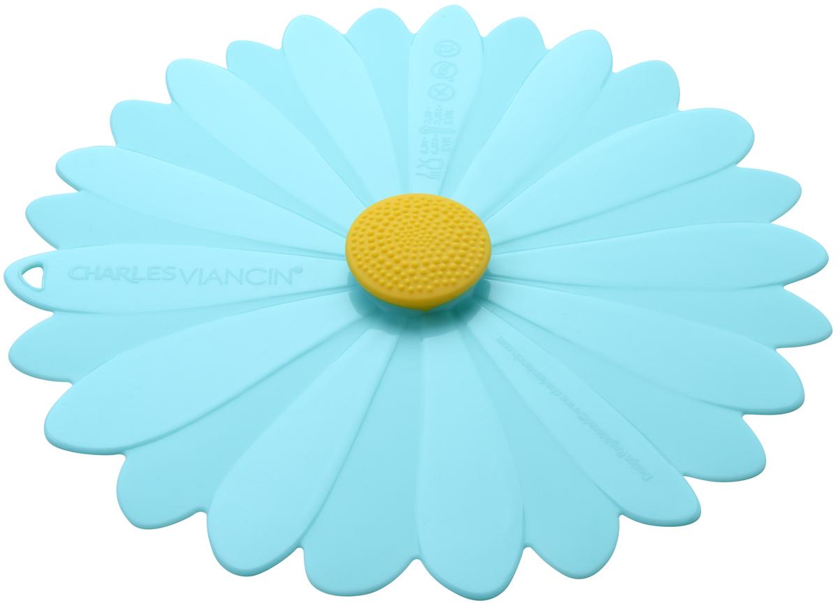 Крышка Charles Viancin Daisy, цвет: голубой. Диаметр 23 см3402Крышка герметична, привлекательна по дизайну и функциональна. Ее можно использовать в процессе приготовления пищи на плите, в микроволновой печи и в духовом шкафу. Подходит для посудомоечной машины. Можно использовать в холодильнике. Закроет любую емкость с гладким ободом.