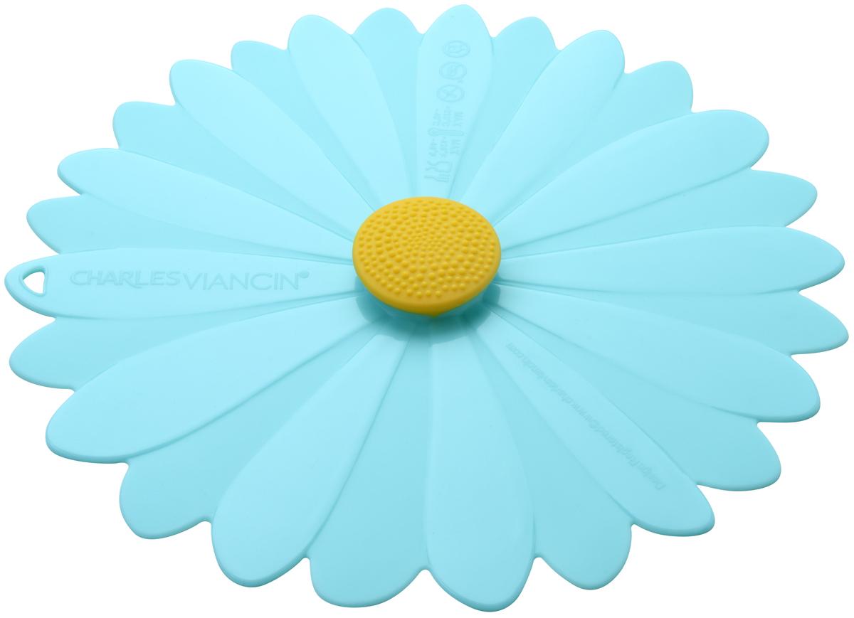 Крышка Charles Viancin Daisy, цвет: голубой. Диаметр 20 см3403Крышка герметична, привлекательна по дизайну и функциональна. Ее можно использовать в процессе приготовления пищи на плите, в микроволновой печи и в духовом шкафу. Подходит для посудомоечной машины. Можно использовать в холодильнике. Закроет любую емкость с гладким ободом.