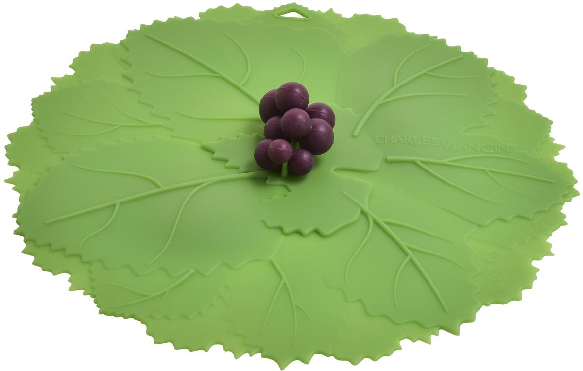 Крышка Charles Viancin Grape, цвет: зеленый. Диаметр 28 см5201Крышка герметична, привлекательна по дизайну и функциональна. Ее можно использовать в процессе приготовления пищи на плите, в микроволновой печи и в духовом шкафу. Подходит для посудомоечной машины. Можно использовать в холодильнике. Закроет любую емкость с гладким ободом.