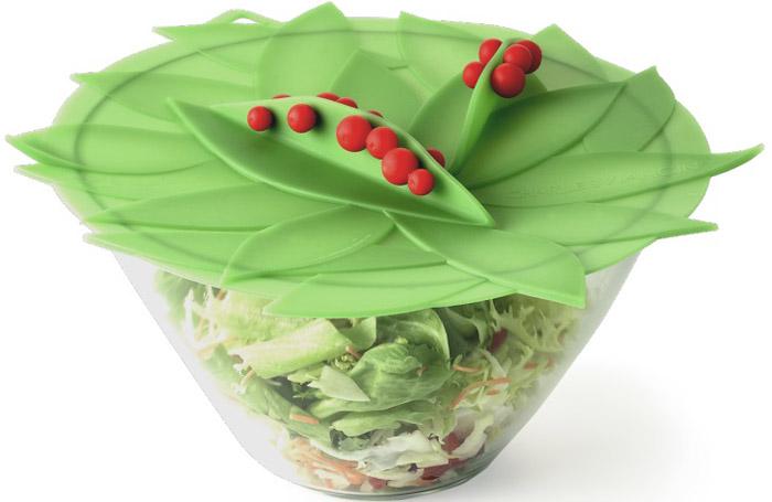 Крышка Charles Viancin Winterberry, цвет: зеленый. Диаметр 15 см5304Крышка герметична, привлекательна по дизайну и функциональна. Ее можно использовать в процессе приготовления пищи на плите, в микроволновой печи и в духовом шкафу. Подходит для посудомоечной машины. Можно использовать в холодильнике. Закроет любую емкость с гладким ободом.