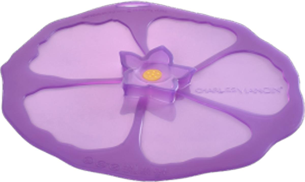Крышка Charles Viancin Hibiscus, цвет: фиолетовый. Диаметр 15 см5904Крышка герметична, привлекательна по дизайну и функциональна. Ее можно использовать в процессе приготовления пищи на плите, в микроволновой печи и в духовом шкафу. Подходит для посудомоечной машины. Можно использовать в холодильнике. Закроет любую емкость с гладким ободом.