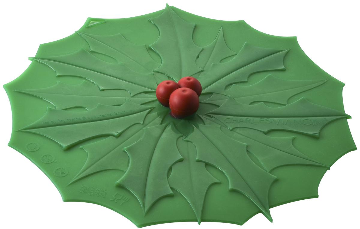 Крышка Charles Viancin Holly, цвет: зеленый. Диаметр 28 см7101Крышка герметична, привлекательна по дизайну и функциональна. Ее можно использовать в процессе приготовления пищи на плите, в микроволновой печи и в духовом шкафу. Подходит для посудомоечной машины. Можно использовать в холодильнике. Закроет любую емкость с гладким ободом.