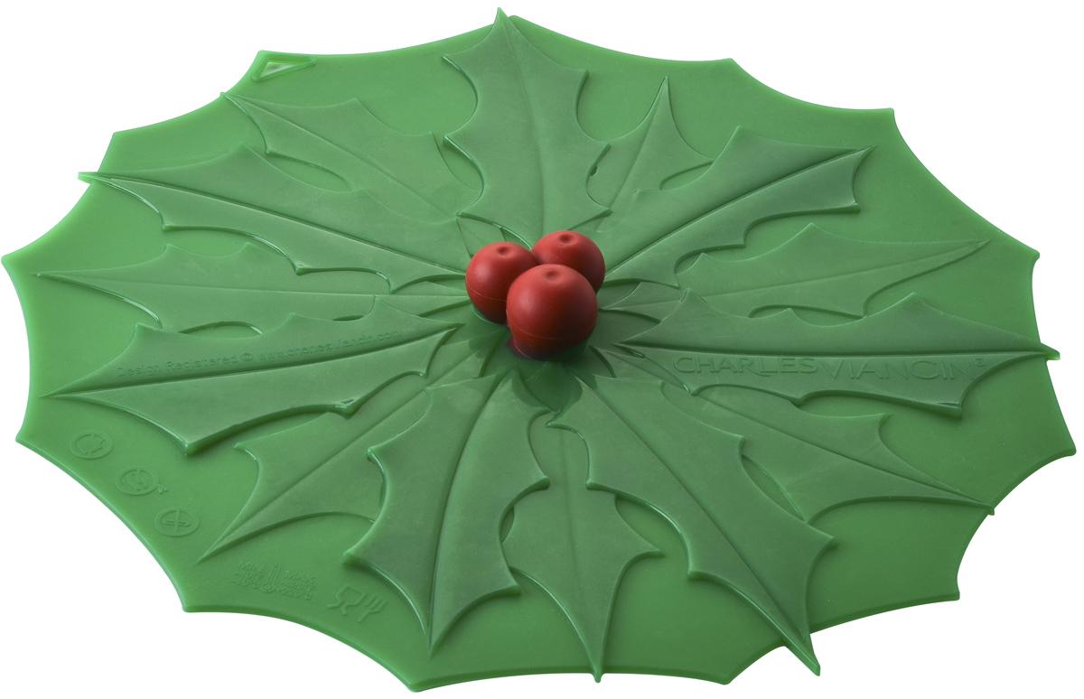 Крышка Charles Viancin Holly, цвет: зеленый. Диаметр 23 см7102Крышка герметична, привлекательна по дизайну и функциональна. Ее можно использовать в процессе приготовления пищи на плите, в микроволновой печи и в духовом шкафу. Подходит для посудомоечной машины. Можно использовать в холодильнике. Закроет любую емкость с гладким ободом.