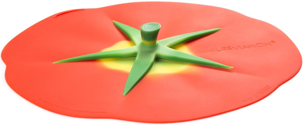 Крышка Charles Viancin Tomato, цвет: красный. Диаметр 23 см9602Крышка герметична, привлекательна по дизайну и функциональна. Ее можно использовать в процессе приготовления пищи на плите, в микроволновой печи и в духовом шкафу. Подходит для посудомоечной машины. Можно использовать в холодильнике. Закроет любую емкость с гладким ободом.