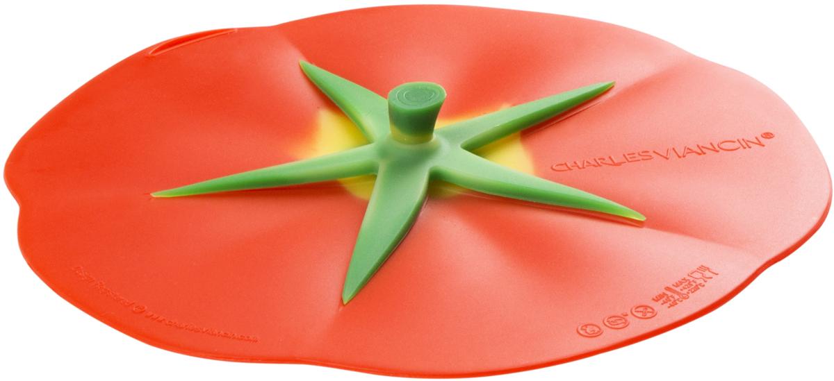 Крышка Charles Viancin Tomato, цвет: красный. Диаметр 20 см9608Крышка Charles Viancin Tomato герметична, привлекательна по дизайну и функциональна. Ее можно использовать в процессе приготовления пищи на плите, в микроволновой печи и в духовом шкафу. Подходит для посудомоечной машины. Можно использовать в холодильнике. Закроет любую емкость с гладким ободом.