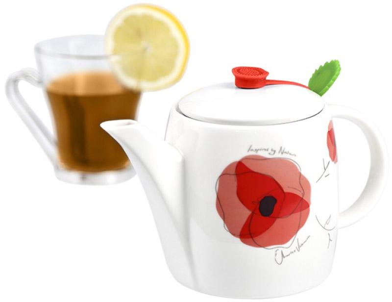 Чайник заварочный Charles Viancin Poppy, с фильтром, 500 мл9809Многофункциональные чайники с фильтром, Charles Viancin обязательный атрибут истинного любителя чая. Благодаря уникальному дизайну герметичных накладок при каждом разливе, чай сохраняет тепло и аромат.
