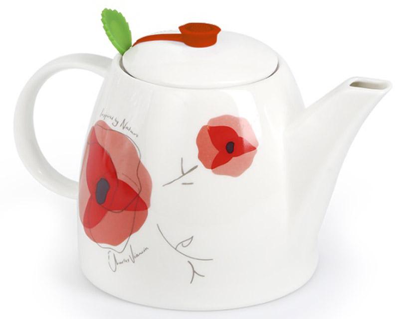 Чайник заварочный Charles Viancin Poppy, на 4 чашки9812Многофункциональные чайники с фильтром, Charles Viancin обязательный атрибут истинного любителя чая.Благодаря уникальному дизайну герметичных накладок при каждом разливе, чай сохраняет тепло и аромат.