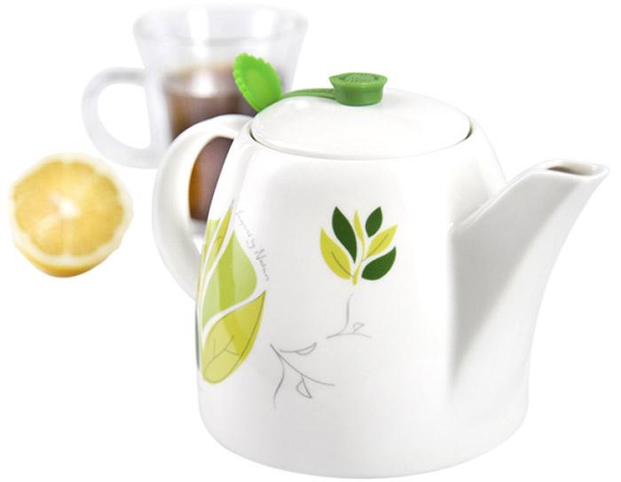 Чайник заварочный Charles Viancin Camellia, с фильтром, 1 л9814Многофункциональные чайники с фильтром, Charles Viancin - обязательный атрибут истинного любителя чая. Благодаря уникальному дизайну и герметичным накладкам, чай долго сохраняет тепло и аромат.