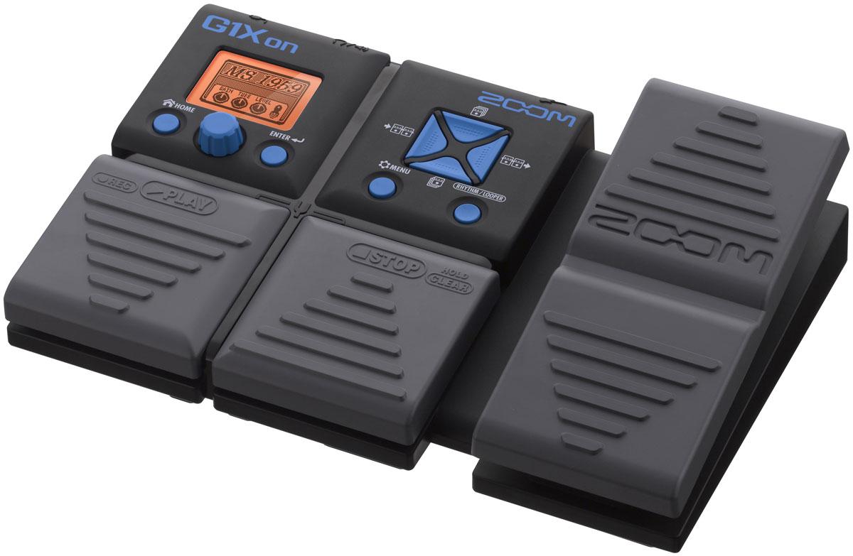 Zoom G1Xon, Black процессор эффектов для электрогитары с педальюG1XonZoom G1Xon предлагает гитаристу 75 гитарных эффектов, включая широкий ряд видов дисторшна, компрессии, модуляции, задержки и реверберации. Кроме того, этот процессор оснащен пятью дополнительными эффектами, которые контролируются педалью.Одновременно можно применять до пяти эффектов, перемешанных между собой в любой желаемой манере. Вдобавок, вы можете выбрать один из 68 встроенных вариантов аккомпанемента, а также подключать наушники через выход джек (а также портативный аудио плеер через вспомогательный вход) для работы в полной тишине.Встроенный хроматический тюнер поддерживает все стандартные гитарные настройки, а функция Looper позволит вам записывать до 30 секунд в качестве CD audio. Длина записи может быть отрегулирована вручную или задана определенным количеством четвертых нот. С помощью этой функции можно создавать любой ритм с автоматической настройкой, которая делает начало и конец записи незаметными. Программирование настроек стало легко и понятно благодаря современному и удобному интерфейсу, а также большому LCD-дисплею.Продвинутые функции копирования (Copy) и перестановки (Swap) облегчают процесс упорядочивания ваших патчей для живого выступления. Функция Autosave гарантирует, что результаты вашей работы будут сохранены автоматически, а возможность предварительного выбора (Pre Select) позволяет вам бесшумно просматривать список патчей, продолжая использовать текущий патч. G1Xon также оснащен встроенной педалью экспрессии, которая позволяет вам регулировать выходной и входной уровни, а также параметры любого из выбранных вами эффектов.Масса возможностей для гитаристаG1Xon позволяет вам выбирать из 75 различных DSP-эффектов. Модель G1Xon также позволяет использовать 5 дополнительных эффектов, управляемых педалью. Для удобства использования все эффекты разбиты на следующие категории:Динамика / Фильтры11 различных способов обработки и придания вашему звучания формы с помощью компрессоров,