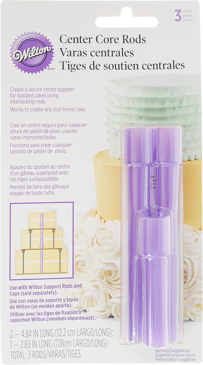 Стержень для торта Wilton, 3 шт161245-000_фиолетовыйСтержни Wilton выполнены из прочного пластика. Они предназначены для создания устойчивогоцентра у многоярусного торта, вставляются поэтапно и замыкаются между собой.В комплекте 2 стержня высотой 12,2 см и стержень 7,2 см.