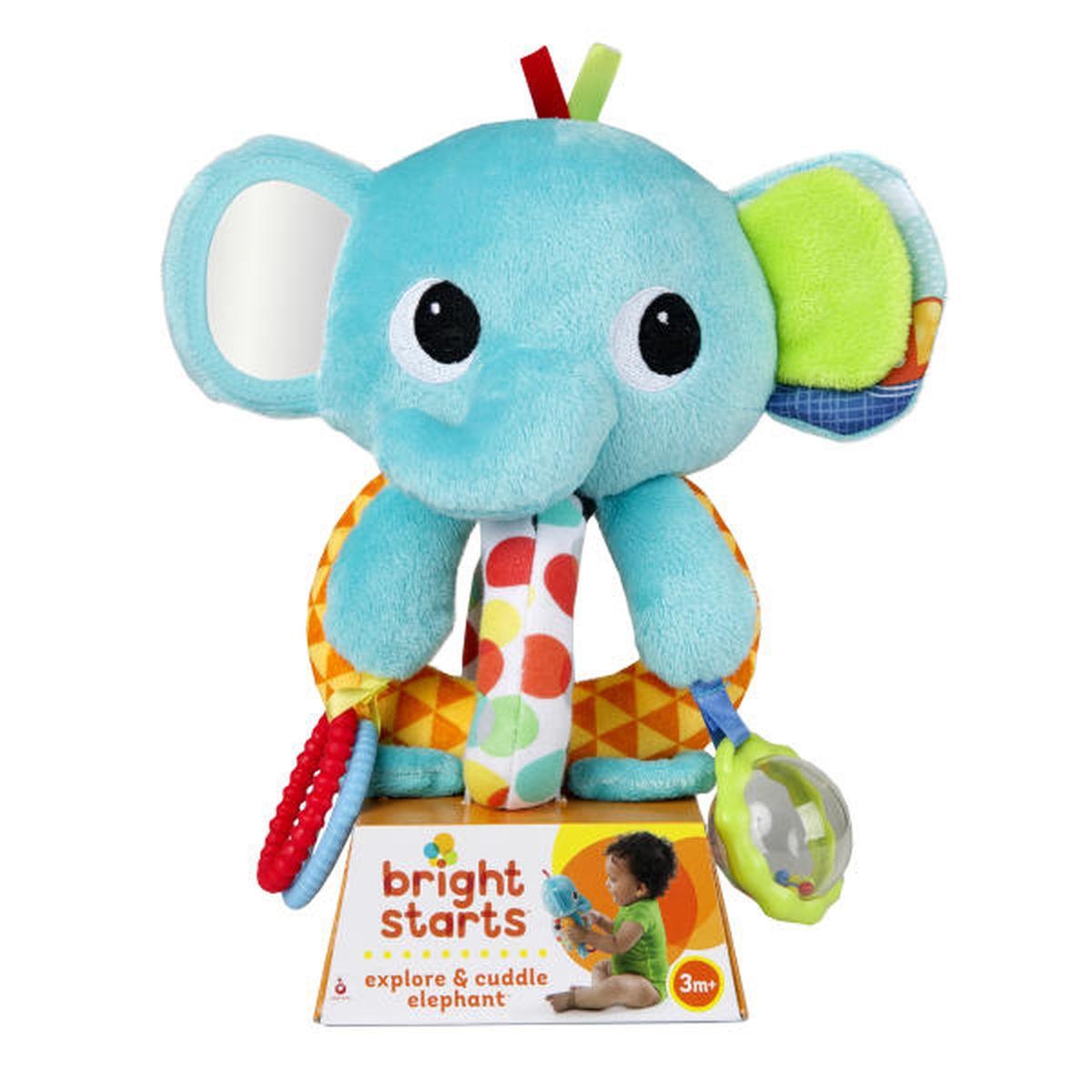 Bright Starts Развивающая игрушка Ласковый слоненок игрушка подвеска bright starts развивающая игрушка щенок