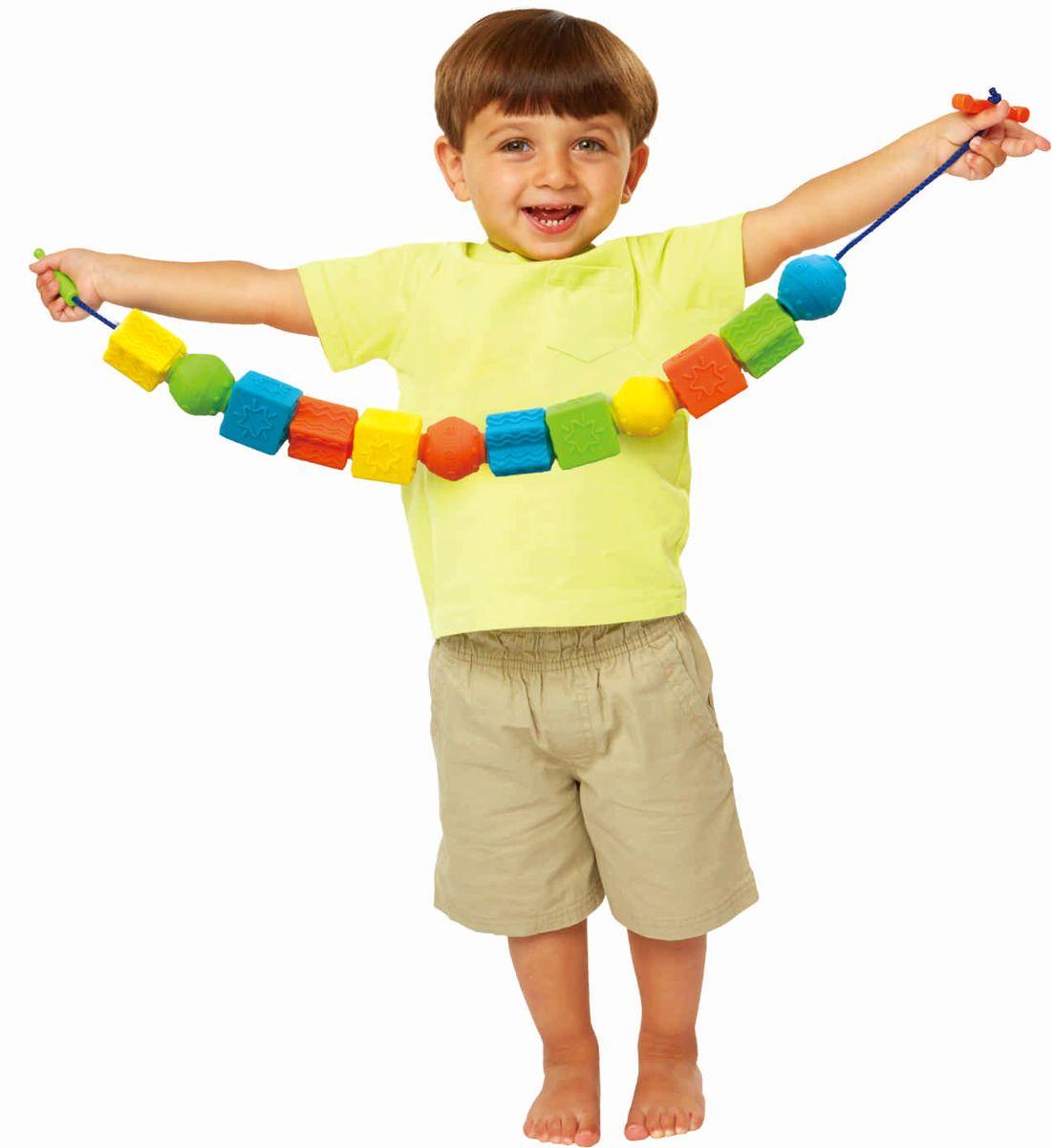 Little Hero Развивающая игрушка Гигантские бусы бусы авантюрин зеленый 49 см