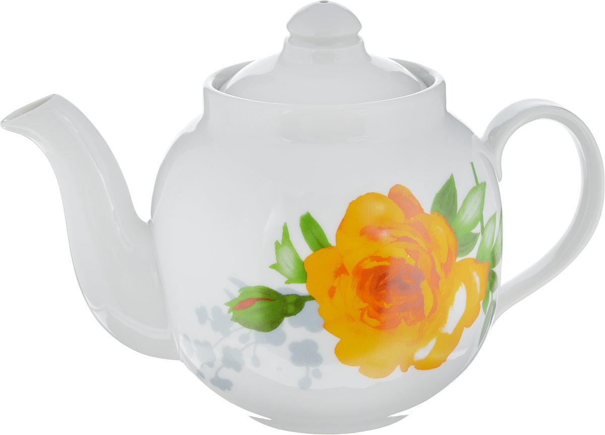Чайник заварочный Дулевский Фарфор Янтарь. Роза без отводки, 700 мл068002Заварочный чайник Дулевский Фарфор выполнен из высококачественного фарфора, покрытого глазурью. Изделие прекрасно подходит для заваривания вкусного и ароматного чая, травяных настоев. Оригинальный дизайн сделает чайник настоящим украшением стола. Он удобен в использовании и понравится каждому.
