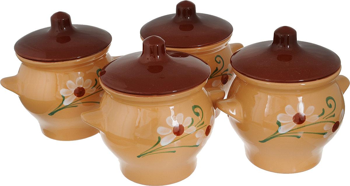 Набор горшочков для запекания Борисовская керамика Подарочный, 4 шт