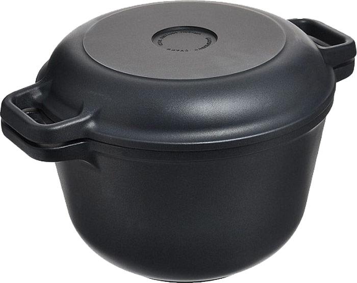 Кастрюля-казан Нева, с антипригарным покрытием, с крышкой-сковородой, 7 л6870