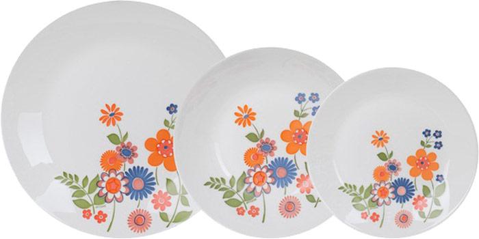 Сервиз обеденный Luminarc Celena, 18 предметовК4192Производитель: Luminarc, ФранцияЦвет: белый с рисункомКоличество предметов, шт: 18Сервиз столовый состоит из:— Тарелка десертная 6 шт. (18 см)— Тарелка обеденная 6 шт. (25 см)— Тарелка суповая 6 шт. (20 см)Материал: — опаловое стекло.
