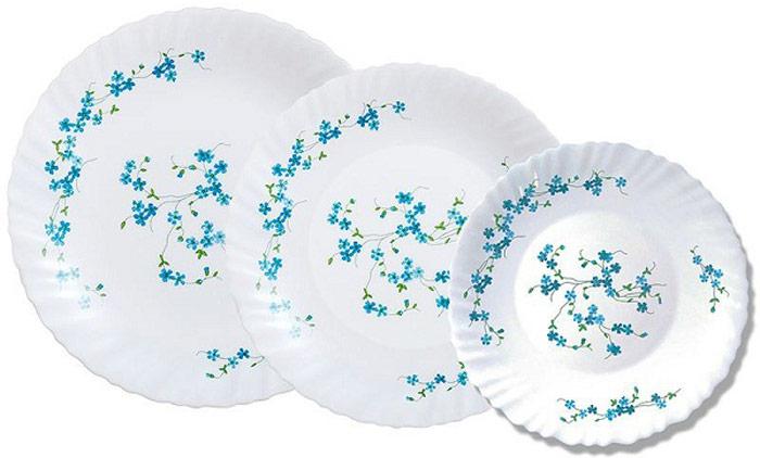 Сервиз обеденный Luminarc Veronica, 18 предметовК6143/L5846Производитель: Luminarc, ФранцияЦвет: белый с узоромКоличество предметов, шт: 18Сервиз столовый состоит из:— Тарелка десертная 6 шт. (18 см)— Тарелка обеденная 6 шт. (25 см)— Тарелка суповая 6 шт. (20 см)вМатериал: — ударо прочное стекло.