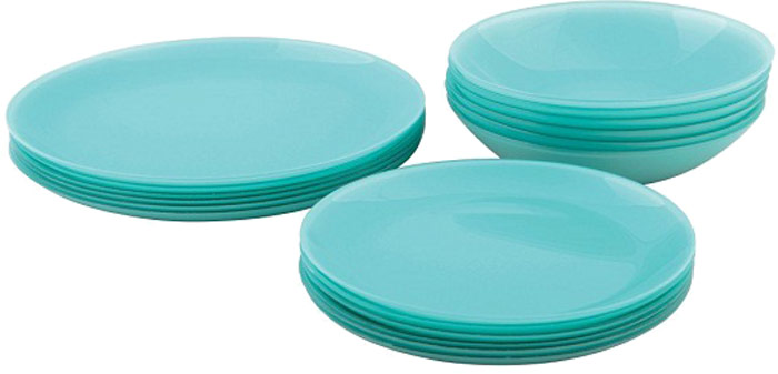 Сервиз обеденный Luminarc Arty Soft Blue, 18 предметов тарелка суповая luminarc arty purple 20 см