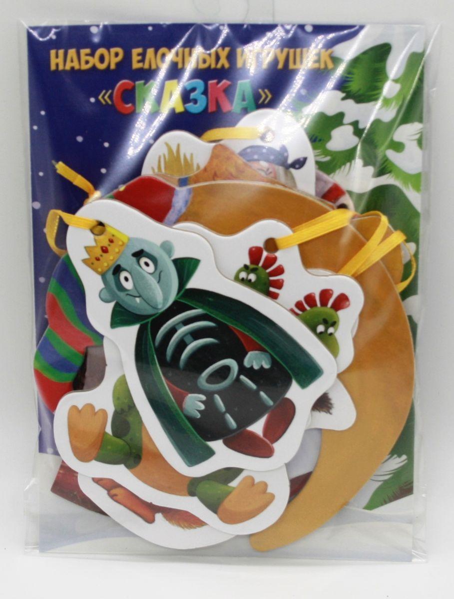 Набор новогодних игрушек Darinchi СказкаTOYNY ALL 2Набор картонных безопасных новогодних игрушек в стиле Сказка.