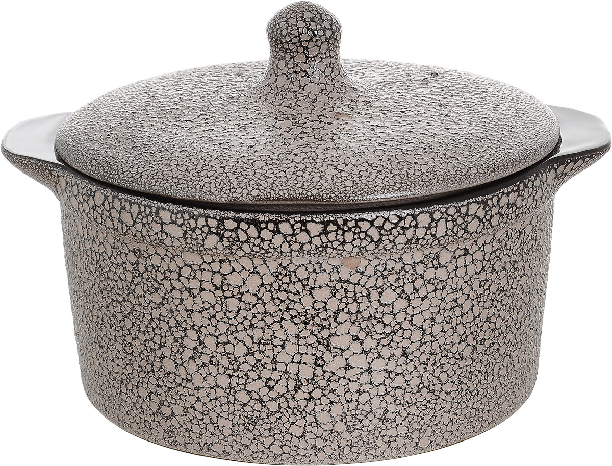 Кастрюля для запекания Борисовская керамика с крышкой, керамическая, 2 лМРМ14456944Кастрюля керамическая №1 МРМ14456944. Материал: Керамика. Объем: 2,4