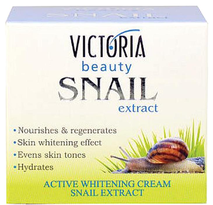 VictoriaBeauty Крем-концентрат с экстрактом садовой улитки /дневной и ночной, 50 мл770143Крем для отбеливания предназначен для кожи с неравномерным цветом, веснушками, шрамами от угрей и возрастными пятнами. Сочетание экстракта улитки и активного отбеливающего комплекса начинает действовать быстро на кожу, чтобы осветить существующие темные пятна, даже из лица, увлажняя и восстанавливая естественный водный/липидный баланс кожи. При регулярном использовании, вы получите свежую и сияющую кожу, гладкой на ощупь.