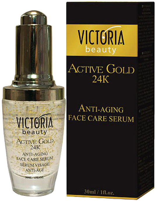 VictoriaBeauty Сыворотка для лица Victoria Beauty Active gold 24 k, 30ml цена
