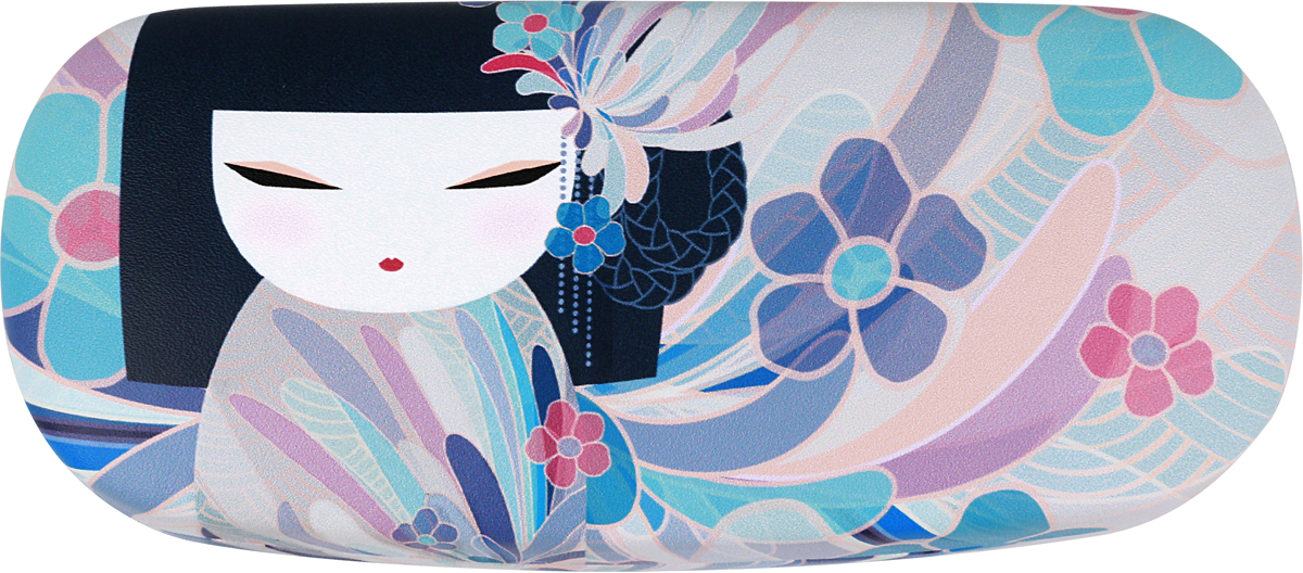 Футляр для очков женский Kimmidoll Намика, цвет: голубой. KF1165 цепочки для очков germes цепочка металлическая для очков g 8