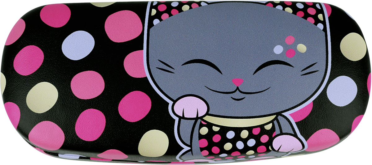 Футляр для очков женский Mani The Lucky Cat, цвет: черный. MF065 цепочки для очков germes цепочка металлическая для очков g 8