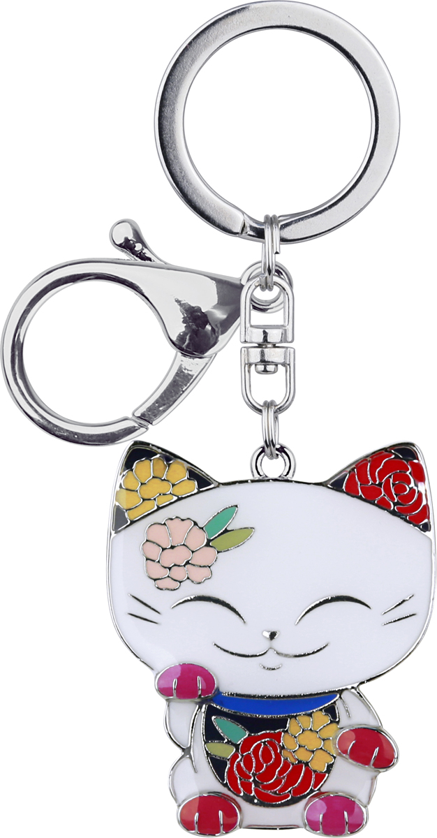 """В Японии верят, что Манеки Неко приносит удачу, богатство и процветание своему владельцу.  Статуэтка выглядит в форме кошки с поднятой лапой, ее часто можно встретить в различных  частях Азии: в домах, в магазинах, в ресторанах.  """"Mani The Lucky Cat"""" - это современная версия традиционного Maneki Neko. Мы надеемся, что """"Mani  The Lucky Cat"""" в виде брелока принесет вам и вашим друзьям удачу и успех во всем!"""