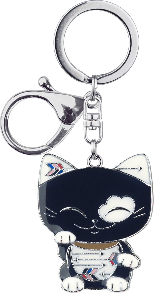 Брелок-талисман Mani The Lucky Cat, цвет: черный. MGK006МеталлВ Японии верят, что Манеки Неко приносит удачу, богатство и процветание своему владельцу. Статуэтка выглядит в форме кошки с поднятой лапой, ее часто можно встретить в различных частях Азии: в домах, в магазинах, в ресторанах. Mani The Lucky Cat - это современная версия традиционного Maneki Neko. Мы надеемся, что Mani The Lucky Cat в виде брелока принесет вам и вашим друзьям удачу и успех во всем!