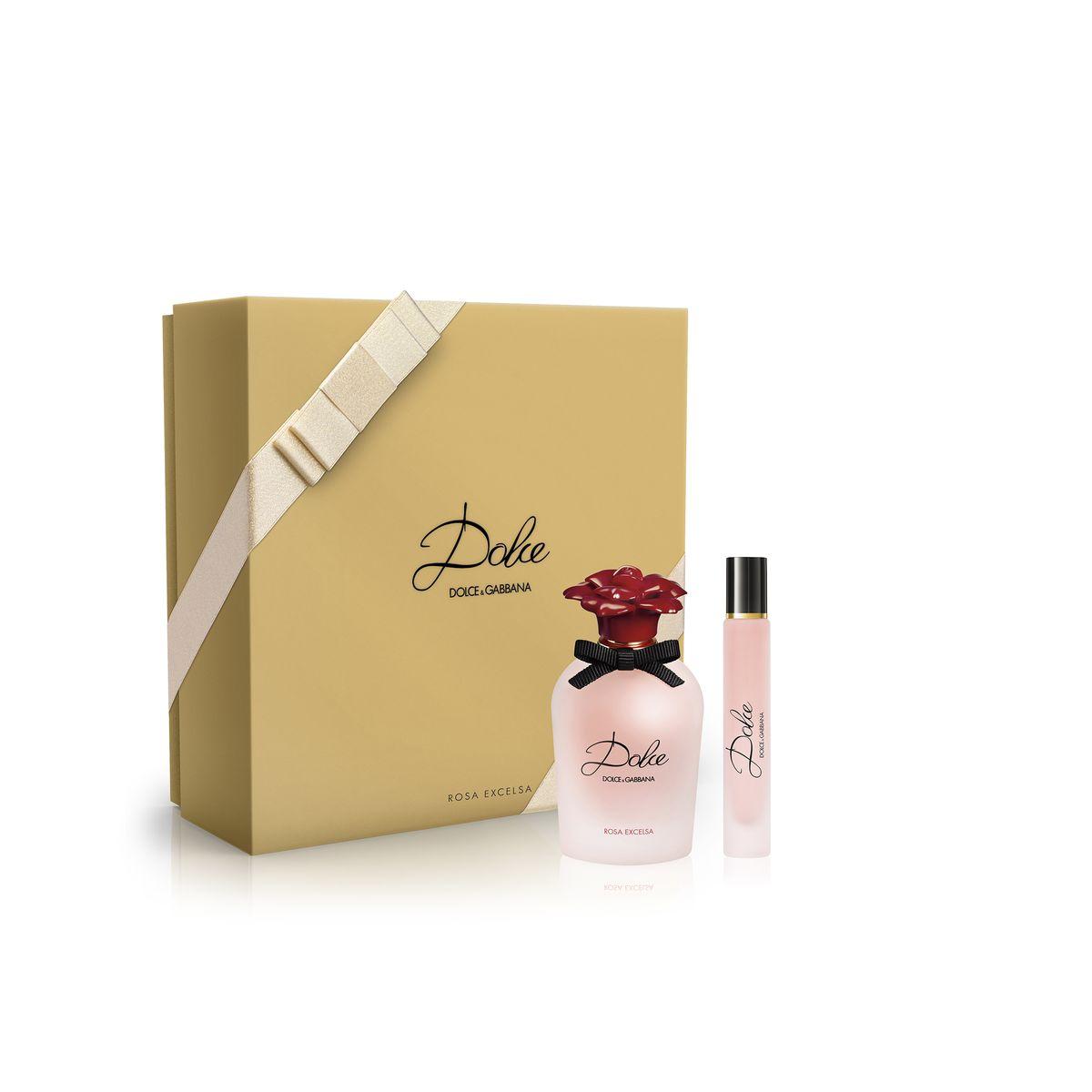 Dolce&Gabbana Парфюмерный набор Dolce Rosa: парфюмерная вода 30 мл, парфюмерная вода-ролик 7,4 мл0730870264065В композицию аромата входит эссенция нежных розовых лепестков, которая делает его оригинальным и неповторимым как и сама роза. В сердце аромата Dolce Rosa Excelsa переплетаются ноты двух видов роз, изысканных и благородных. Впервые в истории в состав парфюмерной композиции аромата вошел африканский шиповник, сделав ее совершенно уникальной. В букет аромата также вплетены женственные ноты невероятно душистой дамасской розы.Краткий гид по парфюмерии: виды, ноты, ароматы, советы по выбору. Статья OZON Гид