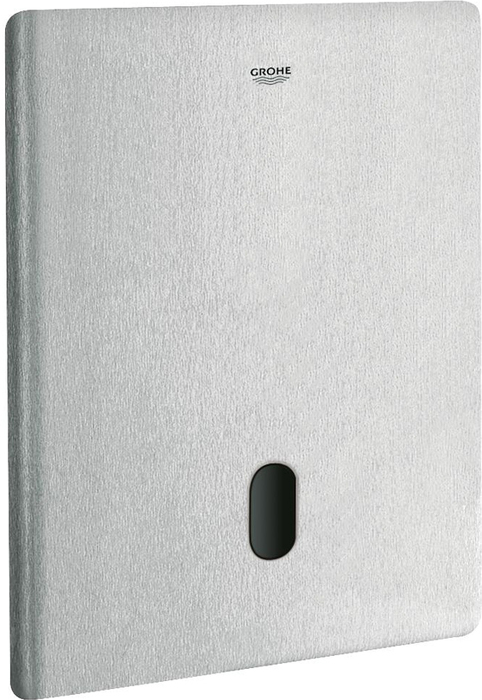 Инфракрасная панель смыва для унитаза Grohe Tectron Skate. 38698SD138698SD1Инфракрасная панель смыва для унитаза с инфракрасным датчиком для двусторонней связи для мониторинга, настройки и сервисного обслуживанияс адаптером 100-230 V переменного тока, 50-60 Hz, 6 V постоянного токадля смывного бачка GD 2серво мотордля скрытого монтажафронтальная панель 156 х 197 мминфракрасное управление7 предустановленных режимов:- автоматический смыв- моющий режимпредварительная промывка вкл/выклдополнительные функции и точные настройки с помощью пульта дистанционного управления 36 407регулируемый смыв (3-9 л) вручную или с помощью пульта управленияОдобрено в СE