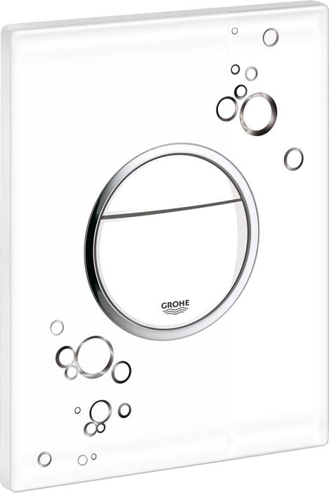 Панель смыва для унитаза Grohe Nova Cosmopolitan Print. 38847LI038847LI0с графическим принтом2 объема смыва или прерывание смыва старт/стопдля пневматического смывного клапанадля вертикального и горизонтального монтажа 156 x 197 мм, из ABSGROHE EcoJoy Технология совершенного потока при уменьшенном расходе воды