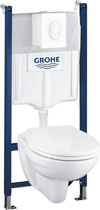 Набор 4-в-1 для подвесного унитаза Grohe Solido. 39117000 супермаркет] [jingdong подушка ковыль 3 придерживались кнопки туалета теплого сиденье для унитаза крышка унитаза 1g5865