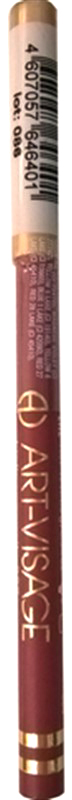 Art-Visage Карандаш контурный для губ / Lipliner pencil, т. 225, 1,3 г04064610Создает идеальный контур губ. Бережно ухаживает за нежной кожей весь день. В состав карандаша входят натуральные компоненты, которые способствуют сохранению красоты и молодости ваших губ: • Экстракт алоэ оказывает тонизирующее и бактерицидное действие; • масло жожоба смягчает и питает кожу; • витамин Е помогает сохранить молодость кожи; • натуральные тугоплавкие воски обеспечивают повышенную стойкость карандаша в течение дня.