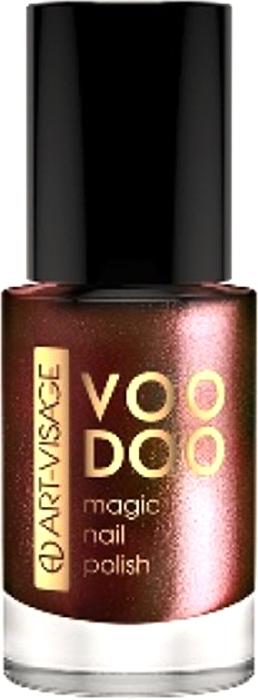 Art-Visage Лак для ногтей Voodoo, тон 04 8,5 мл059780Вуду - магический лак для ногтей. Сочетание многоцветных глиттеров и перламутров создает магическое сияние. Профессиональная плоская кисточка для идеального ровного нанесения.