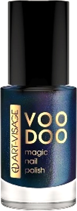 Art-Visage Лак для ногтей Voodoo, тон 08 8,5 мл059865Вуду - магический лак для ногтей. Сочетание многоцветных глиттеров и перламутров создает магическое сияние. Профессиональная плоская кисточка для идеального ровного нанесения.