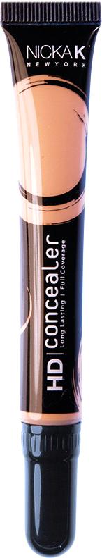 Nicka K NY HD Concealer тональный крем, 15 мл, оттенок TAN016989Nicka K Консилер HD идеально маскируют темные круги под глазами и другие несовершенства кожи, наполняя лицо сиянием. Легкая, увлажняющая формула со светоотражающей технологией гарантируют равномерное нанесение и отсутствие жирного блеска в течение всего дня.