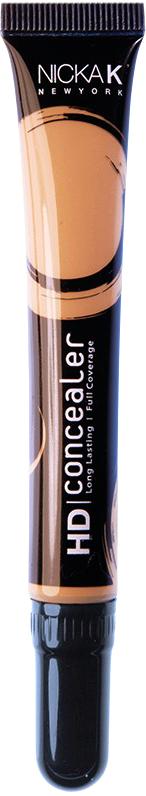 Nicka K NY HD Concealer тональный крем, 15 мл, оттенок BROWN016989Nicka K Консилер HD идеально маскируют темные круги под глазами и другие несовершенства кожи, наполняя лицо сиянием. Легкая, увлажняющая формула со светоотражающей технологией гарантируют равномерное нанесение и отсутствие жирного блеска в течение всего дня.
