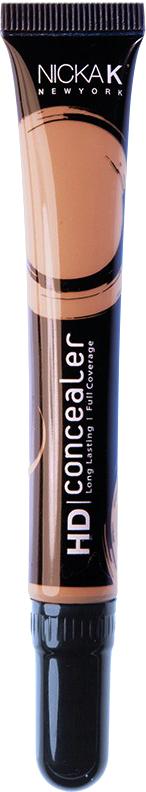 Nicka K NY HD Concealer тональный крем, 15 мл, оттенок LIGHT BROWN017431Nicka K Консилер HD идеально маскируют темные круги под глазами и другие несовершенства кожи, наполняя лицо сиянием. Легкая, увлажняющая формула со светоотражающей технологией гарантируют равномерное нанесение и отсутствие жирного блеска в течение всего дня.