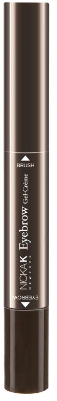 Nicka K NY EyeBrow Wood Pencil карандаш для бровей, 6 мл, оттенок NY090 BLACK BROWN карандаш для бровей lumene nordic chic extreme precision eyebrow pencil 4 цвет 4 коричневый variant hex name 271c1a
