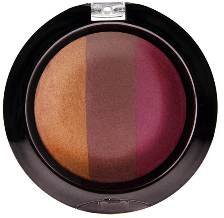 Nicka K NY Defining Eyeshadow тени для глаз, 7 г, оттенок SPARKLE PEACHNBE04Миксовые цвета трёхцветных теней Nicka K New York Terracotta Baked Eyeshadows при нанесении раскрываются богатой палитрой, подчёркивая выразительность взгляда. При производстве теней используется новаторский метод запекания на терракоте, что приводит к шелковисто-плавному переходу при нанесении. Мягкая микро-пудра, входящая в состав теней, увеличивает стойкость, что позволяет макияжу сохраняться в течение всего дня, не осыпаясь и не размазываясь. Тени можно наносить как сухим аппликатором для создания нежного сияния, так и влажным методом для придания макияжу яркого металлического блеска.