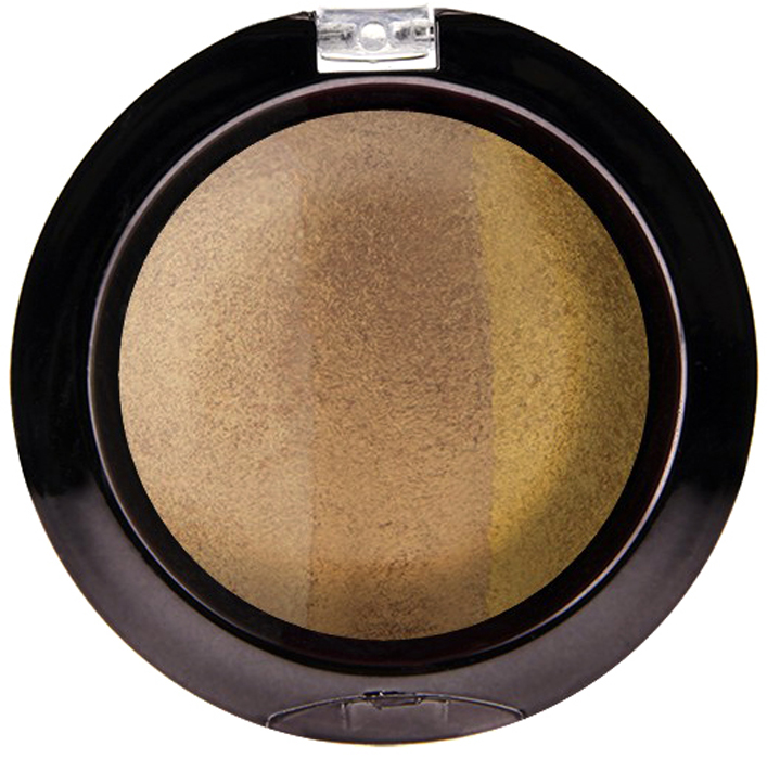 Nicka K NY Defining Eyeshadow тени для глаз, 7 г, оттенок SPARKLE GOLDNBE10Миксовые цвета трёхцветных теней Nicka K New York Terracotta Baked Eyeshadows при нанесении раскрываются богатой палитрой, подчёркивая выразительность взгляда. При производстве теней используется новаторский метод запекания на терракоте, что приводит к шелковисто-плавному переходу при нанесении. Мягкая микро-пудра, входящая в состав теней, увеличивает стойкость, что позволяет макияжу сохраняться в течение всего дня, не осыпаясь и не размазываясь. Тени можно наносить как сухим аппликатором для создания нежного сияния, так и влажным методом для придания макияжу яркого металлического блеска.