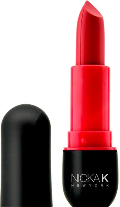 Nicka K NY Matte Lip Stick Губная помада, 3,5 г, оттенок NMS06 HOT PINK017449Бархатистая матовая текстура будет смотреться на Ваших губах роскошно!Ее сливочная консистенцияв восхитительных ягодных тонахувлажняет, питает губы.Какая губная помада лучше. Статья OZON Гид