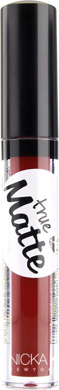 Nicka K NY True Matte Lip Color губная помада, 3,5 г, оттенок SHIRAZ017427Приятная кремовая текстура, обеспечивающая устойчивое покрытие и благородную матовость. Матовый блеск для губ с аппликатором наносится в 1 или 2 слоя в зависимости от того, насколько яркое покрытие вы хотите получить.Какая губная помада лучше. Статья OZON Гид